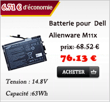 batterie pour Dell Alienware M11x
